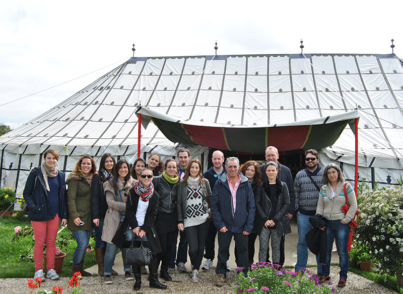 A group of teachers and students of the University of Huelva  visited Agromartín