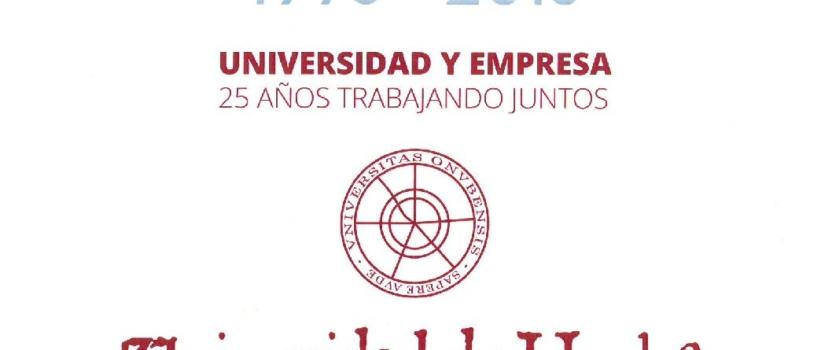 RECONOCIMIENTO DE LA UHU A AGROMARTÍN COMO EMPRESA COLABORADORA EN LA FORMACIÓN DE LOS JOVENES