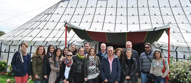 Un grupo de profesores y alumnos de la Universidad de Huelva visitan la empresa Agromartín