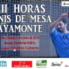 """COLLABORATING WITH THE """"XII HOURS OF TABLE TENNIS"""""""
